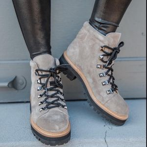 NEW Marc Fisher Issy Lugsole Hiker Boots New 5.5